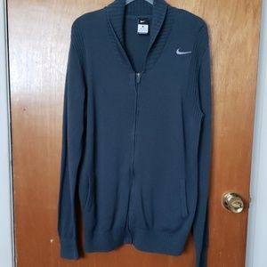 Men Nike Shawl Collar Sweater